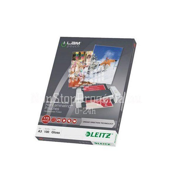LEITZ Lamináló fólia A/4 meleg UDT STANDARD 175 mikron, 74830000