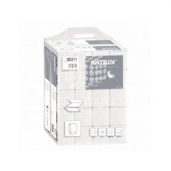 Kéztörlő KATRIN PLUS Z hajtogatott 200lap 2rétegű hófehér 100% cellulóz