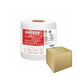 Kéztörlő Katrin Classic M2 2 rétegű fehér 19cm/90m 6DB-OS KARTON ÁR