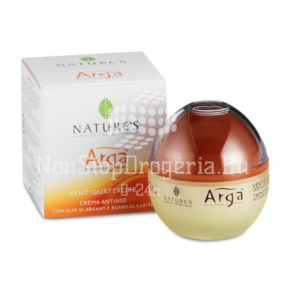 Nature's Arga 24 órás öregedésgátló krém