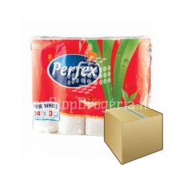 Perfex WC papír 3rétegű 24 tekercs 6DB-OS KARTON ÁR
